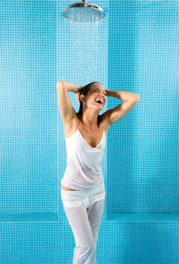 Stock Photo: 3153-771591 woman, shower