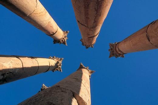 columns, jordan : Stock Photo
