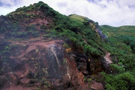 caldeira near algar do corvao cave, terceira, portugal : Stock Photo