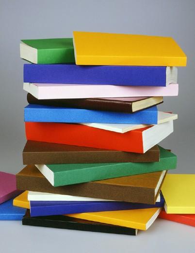 coloured books, studio, italy : Stock Photo
