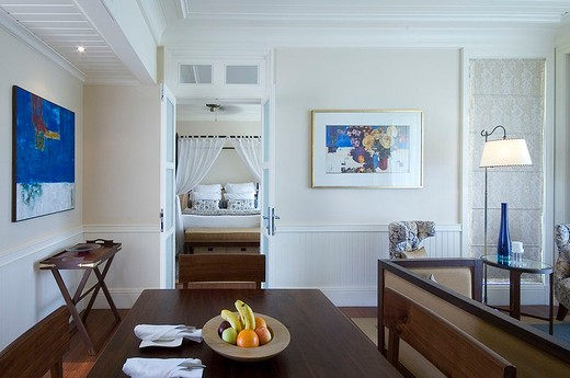 mauritius, bel ombre, hotel telfair : Stock Photo