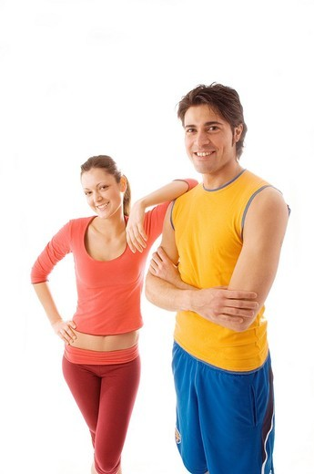 young people, sportswear : Stock Photo
