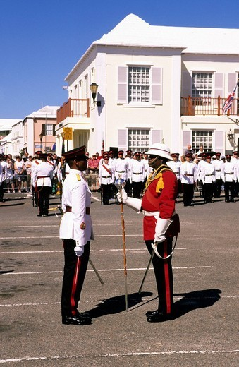 peppercorn parade, saint george, bermuda, caribbean : Stock Photo