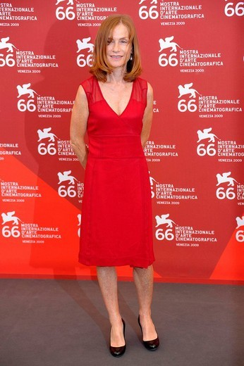 isabelle huppert, venice 2009, 66th international venice film festival : Stock Photo