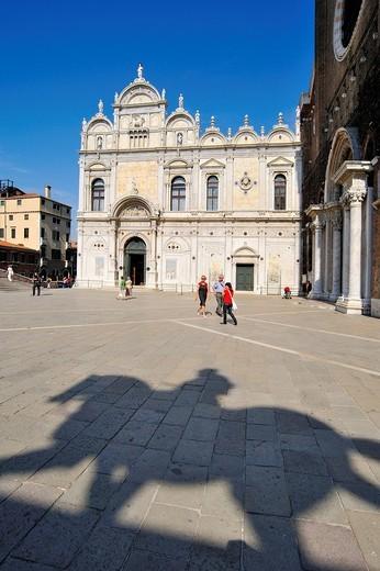 scuola grande di san marco, campo santi giovanni e paolo, venezia, veneto, italia : Stock Photo