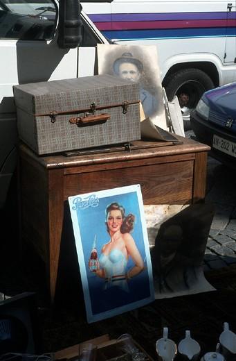 italy, moncalieri, flea markets : Stock Photo