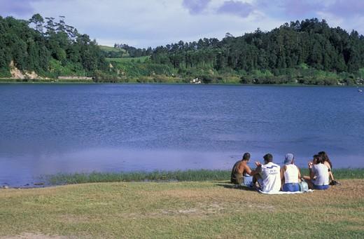 lagoa das furnas, sao miguel, portugal : Stock Photo