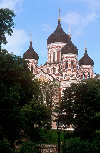 europe, estonia, tallinn, nevski cathedral : Stock Photo
