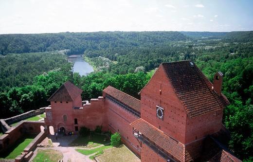 europe, latvia, gauja national park, turaida museum, castle : Stock Photo