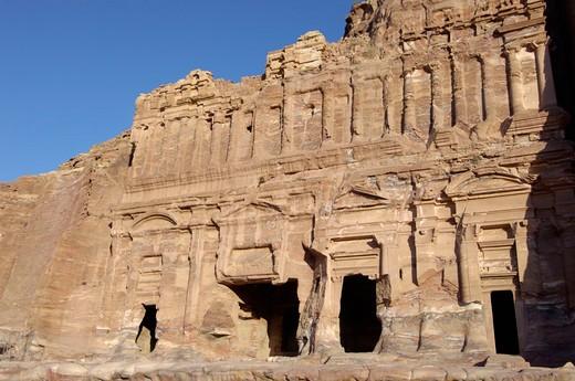 Stock Photo: 3153-777162 asia, jordan, petra, palace tomb