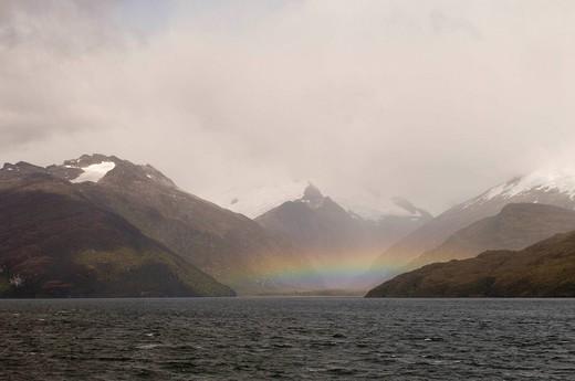 Chile, Patagonia. Tierra del Fuego, Agostini Fjord. : Stock Photo
