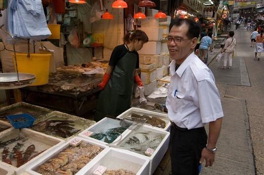Gage street, Central district, Hong Kong, China. : Stock Photo