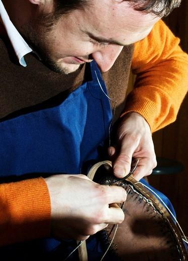 artisan shoes, san mauro pascoli, emilia romagna, italia : Stock Photo