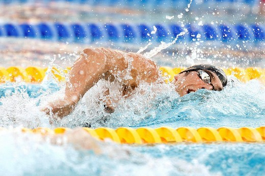 Stock Photo: 3153-777984 michael phelps, roma 2009, fina world championship
