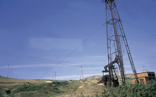 albania, tirana, a oil-well : Stock Photo