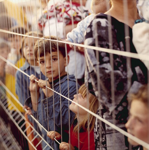 italy, puglia, otranto, refugees kosovo war, 1999 : Stock Photo