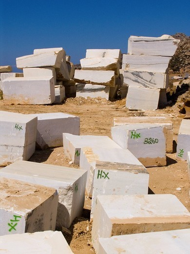 Stock Photo: 3153-779321 europe, greece, cyclades islands, island of naxos, marble quarry