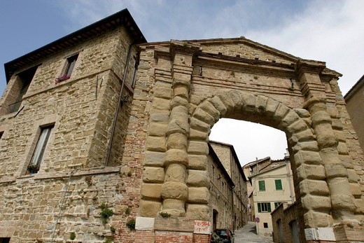 Stock Photo: 3153-779448 europe, italy, marche, camerino, wall