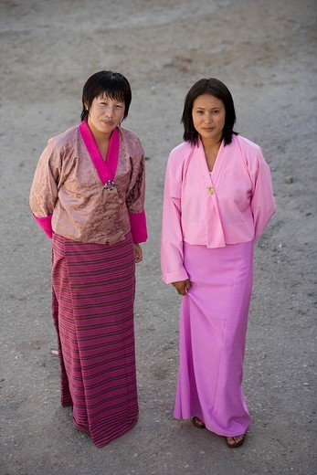 Bhutan. Thimphu. Bhutan girls. : Stock Photo