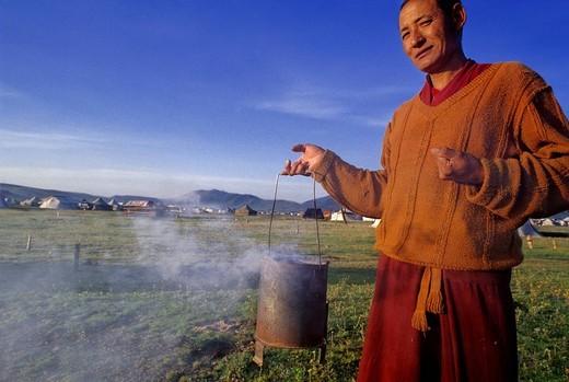 Stock Photo: 3153-781609 eastern tibet, kham, litang, nomadic people