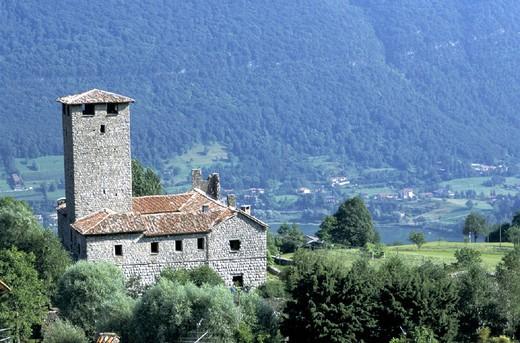 Stock Photo: 3153-782686 europe, italy, lombardia, endine lake,