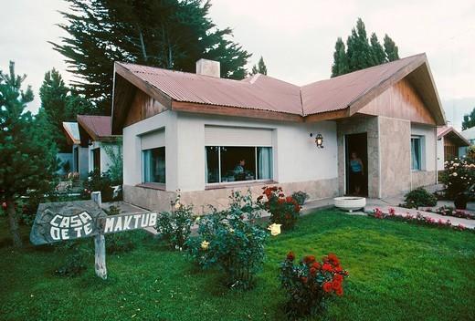 america, argentina, santa cruz province, el calafate, tea house : Stock Photo