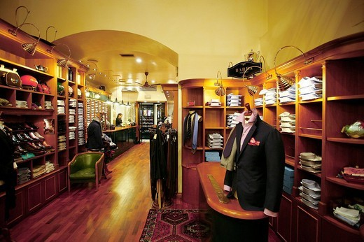 Stock Photo: 3153-783557 milord, male clothes shop, florence