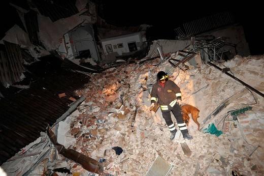 earthquake, l´aquila 2009 : Stock Photo