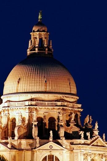europe, italy, veneto, venice, basilica di santa maria della salute : Stock Photo