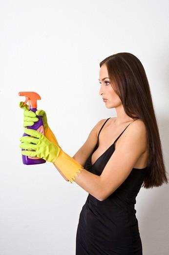 Stock Photo: 3153-789340 Women with sprayer