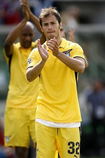 stefan radu, palermo 2009, serie a football championship 2008_2009, palermo_lazio : Stock Photo