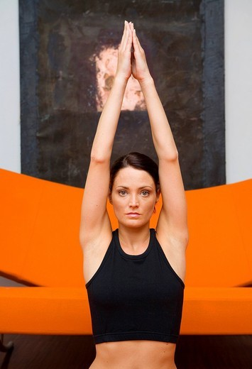 woman, yoga : Stock Photo