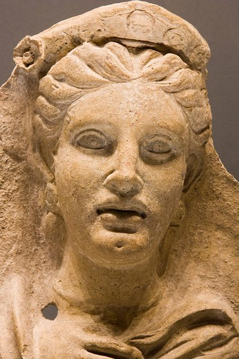 Stock Photo: 3153-791267 europe, italy, tuscany, siena, santa maria della scala, archaeological museum, etruscan museum, chigi zondadari collection, votive head