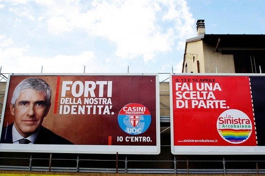 election posters ,milano 07_03_2008,photo marco becker/markanews : Stock Photo