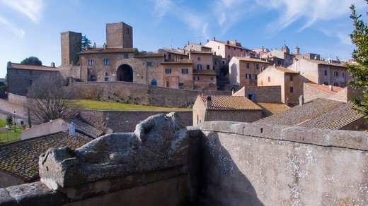 tuscania, lazio, italy : Stock Photo