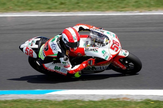marco simoncelli ,phillip island 04_10_2008 ,australian gp ,official test,photo antonio de rosa/markanews : Stock Photo