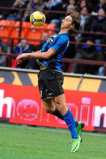 zlatan ibrahimovic,milano 14 12 2008 ,serie a football championship 2008/2009 ,inter_chievo 4_2 ,photo paolo bona/markanews : Stock Photo