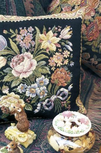 gobelins tapestry fabric, brussels, belgium : Stock Photo