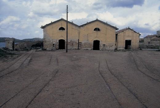 italy, sardinia, caprera island, punta rossa fort 1887/1897 : Stock Photo