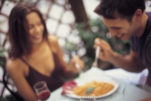 couple, restaurant : Stock Photo
