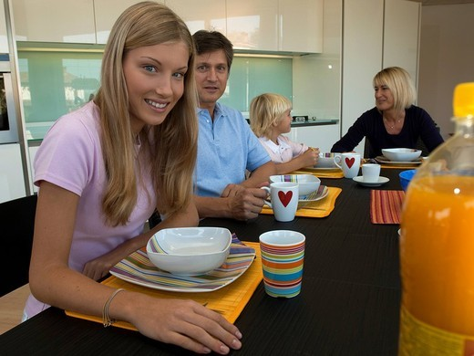 family in the kitchen : Stock Photo
