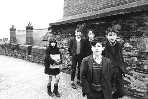 irland,londonderry, group of boys, 1960 : Stock Photo