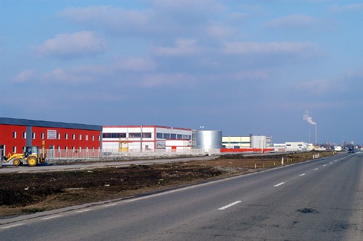europe, romania, industial area : Stock Photo