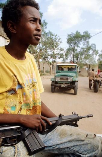 refugees, cross border, somalia : Stock Photo