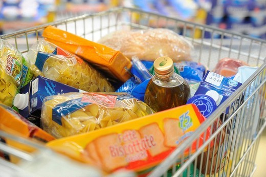 Stock Photo: 3153-799156 high cost of living, supermarket