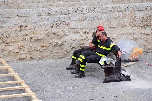 Stock Photo: 3153-799461 earthquake, l´aquila, abruzzo, italia