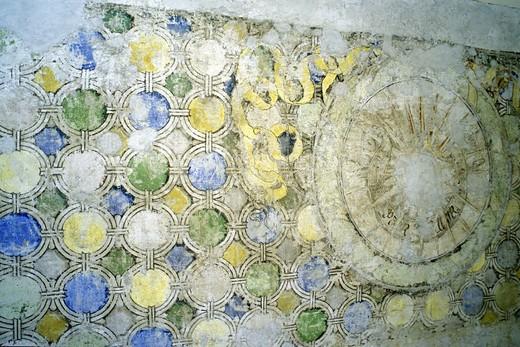 mantegna house: fresco, mantua, italy : Stock Photo