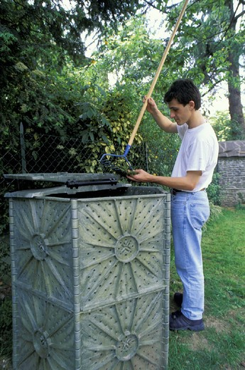 compost, alzano lombardo, italy : Stock Photo