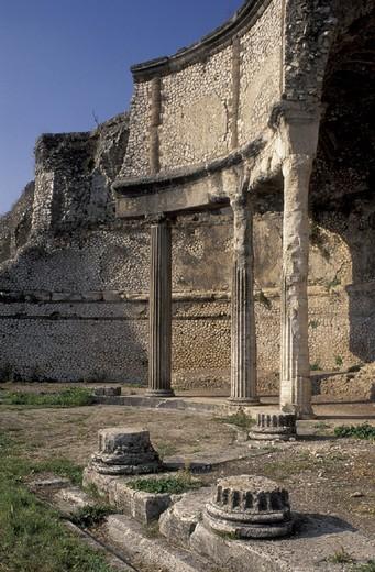 Stock Photo: 3153-802002 upper roman sanctuary, palestrina, italy
