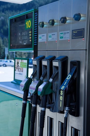 Stock Photo: 3153-802730 petrol station